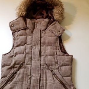 Aeropostale Down Vest with Hood Small